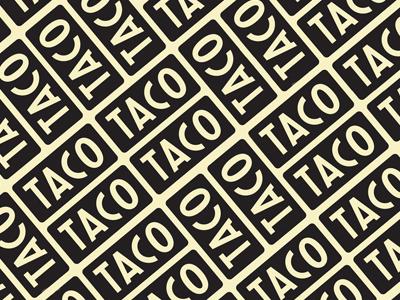 Tacos everywhere bricks yellow black type pattern patterns identity branding tacos