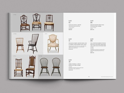 Chairs, yo. antiques books booklets text auction furniture grid spreads layout catalogues catalog chairs