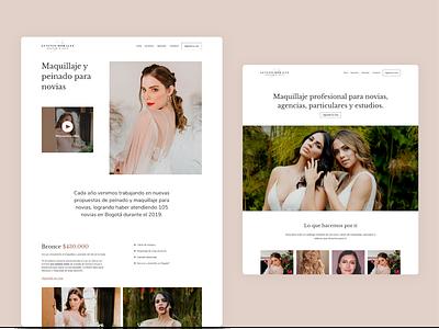 MakeUp Artist Website website design art direction artist