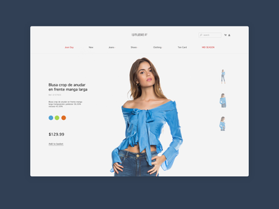 Single Product View Experiment web design single product ecommerce
