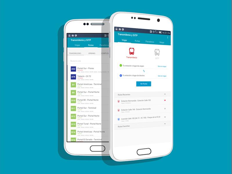 Transmilenio - Transportation App flat design android transport transmilenio app