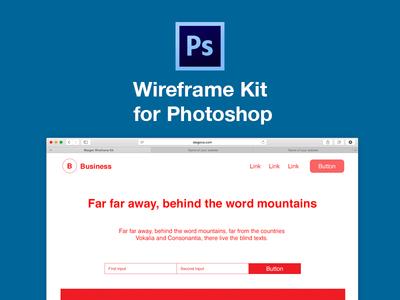 Wireframe kit for Adobe Photoshop