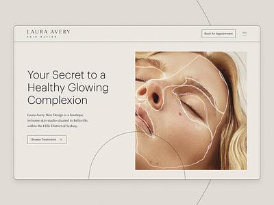 Skin Care Company Web Design & Development webflow website website builder lines light skin beauty website design
