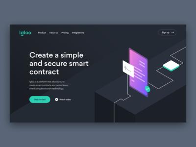 Web App - Blockchain Startup