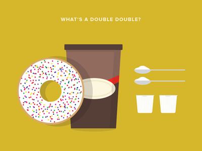 Double Double illustration donuts coffee