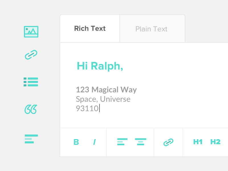 Rich Text Editor ui input rich text wysiwyg monoline icons