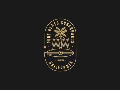Surf T-Shirt logo tshirt surfer surf monoline illustration