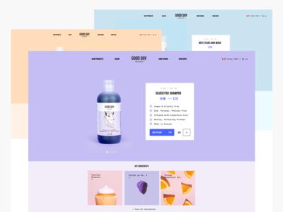 eCommerce Website ux ui pastel beauty product ecommerce