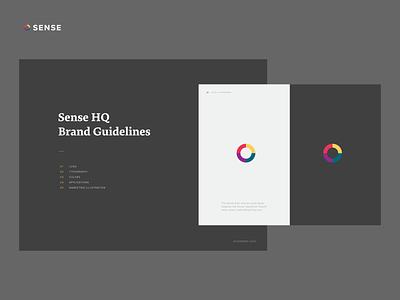 Sense Mini Brand Guide brand guide branding