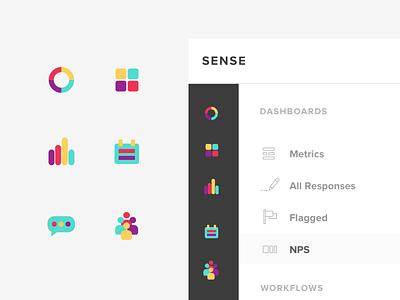 Sense Icon System design system icons