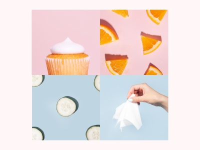 Ingredients Photography beauty pastel art direction photography