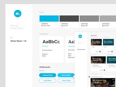 Madeby Design System web app ux ui product design design system