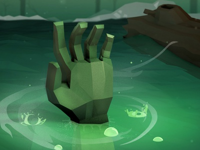 Monster Hand monster zombie hand character animation 3d low poly ben