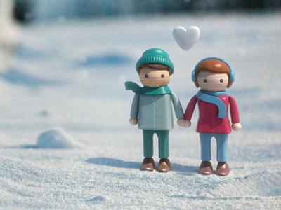 Christmas Card Sneak Peek christmas 3d vray compositing snow characters heart ben christie