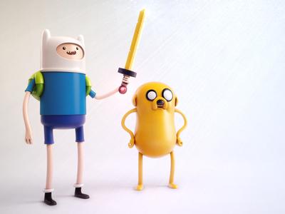 Finn and Jake jake 3d modeling adventure time ben christie c4d toys finn