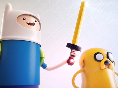 Finn and Jake close c4d toys finn jake 3d modeling adventure time ben christie