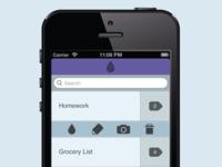 Main Screen of Text&Colour App