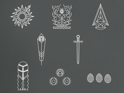 Game Of Thrones Symbols By Hanna Edghill Dribbble