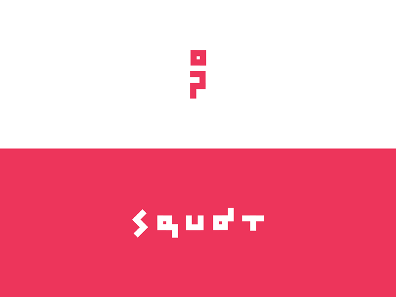 Squat knee logomark icon l logo logotype squat