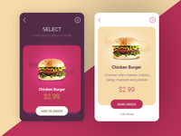 Burger Mobile App UI