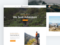 Exploration - Landing Page UI Design