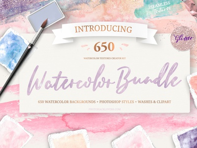 Watercolor Bundle watercolor backgrounds photoshop branding photoshop brushes illustration digital download watercolor digital paper design bundle