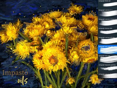 Van Gogh Procreate Brushes procreate app van gogh brushes impressionism impasto procreate art procreate brushes procreate van gogh