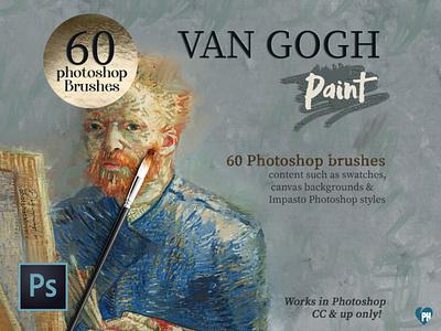 Van Gogh Photoshop brushes photoshop brush impasto brush van gogh effect photoshop brushes