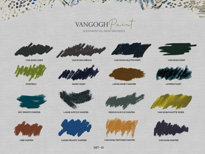 Van Gogh Photoshop brushes photoshop brush impasto brush van gogh effect photoshop brushes