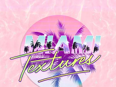 Miami Retro wave Photoshop styles instagram photoshop styles photoshop seaside sunset travel inspo baby blue vaporwave 80s neon soft aesthetic seapunk synthwave retrowave aestheticedits 80stypography textures miamiprint miami