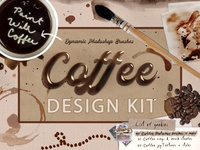 Paint With Coffee Photoshop brush Design Bundle