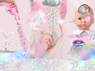 Candybars and aliens illustration design bundle design digital paper photoshop