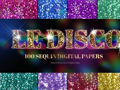 disco textures design bundle digital paper pastel rainbow paper bokeh texture instagram style rose gold sequin sequin background