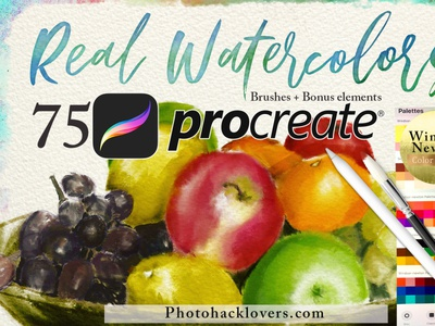 Real Watercolors Procreate watercolor Brushes