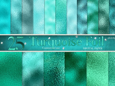 Turquoise foil digital paper green abstract background turquoise foil pattern turquoise scrapbook paper digital paper pack emerald green digital paper teal textures turquoise textures turquoise foil digital paper