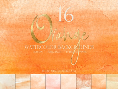 Orange Watercolor Backgrounds