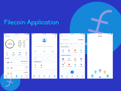 UI of filecoin application