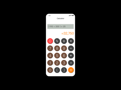 Daily UI 004 Calculator app calculator dailyui
