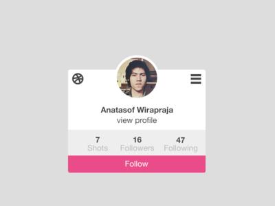 dribbble widget concept