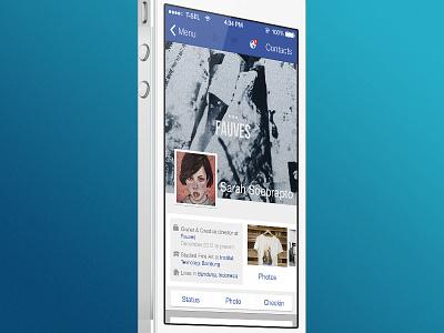 Facebook iOS 7 Concept facebook ios 7 redesign concept anatasof apple iphone
