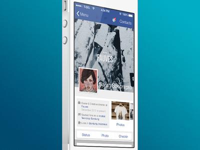 Facebook iOS 7 Concept