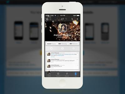 Twitter iOS7 Concept twitter ios 7 ui redesign concept apple iphone minimus v anatasof