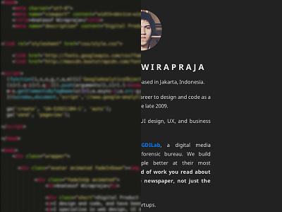 New Look personal site web minimal anatasof indonesia