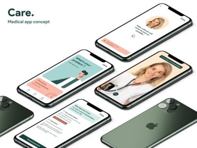 Care. - Medical app concept