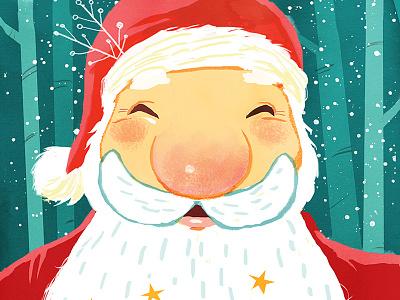 Santa santa christmas snow illustration
