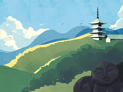 June illustration kyoto
