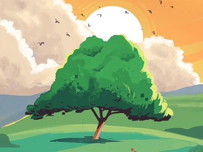 Arbre arbre tree illustration landscape