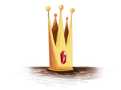 A Single Crown illustration crown princess