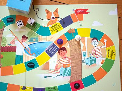 Electric Board Game board game illustration corgi