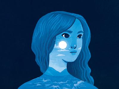 Marie nostalgia sea blue girl